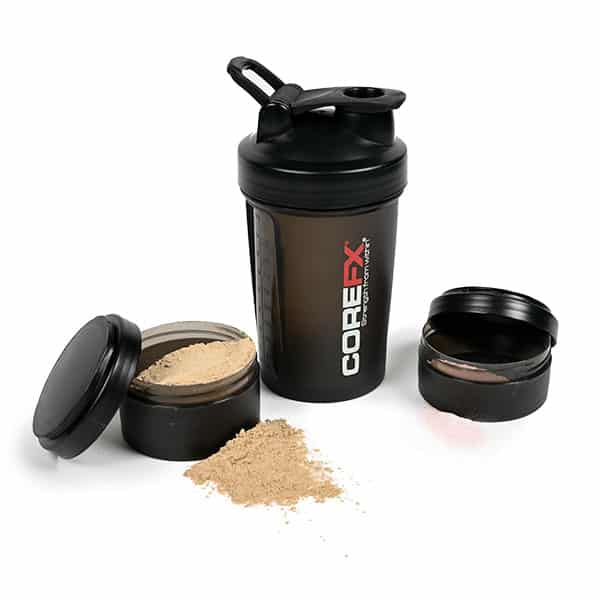 shaker cup with protein and pre workout