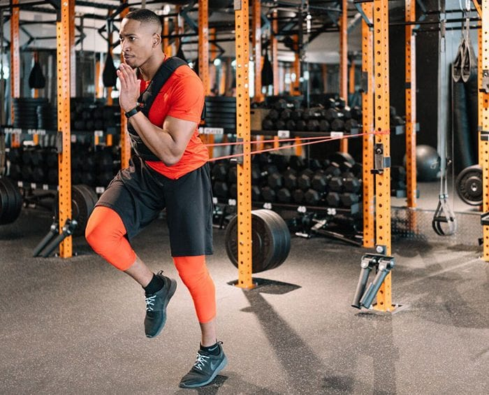 TJ Smith using Resistance Band and Weighted Vest