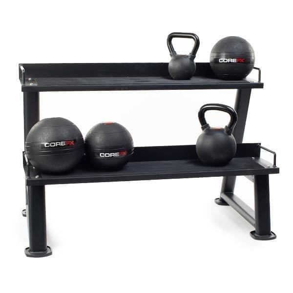 Kettlebell rack with COREFX products