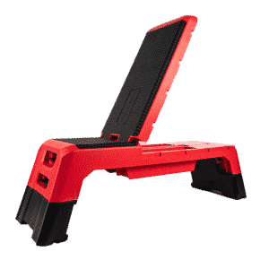 Adjustable Fitness Bench with lifted back