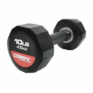 10 pound rubber dumbbell