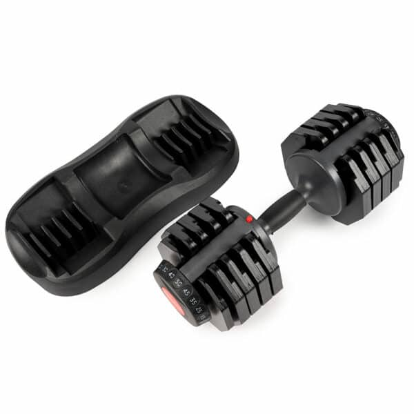 COREFX 50 pound Adjustable Dumbbells with weight tray